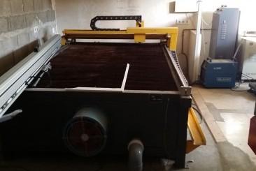 CNC corte plasma para hierro y chapa mesa de 260 x 120 cm