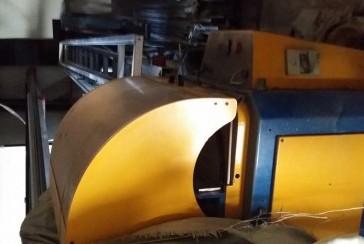 Maquinaria para trabajar aluminio 3piezas, cortar, troquelar